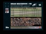 2007 Topps #94  Brian Westbrook  Back Thumbnail