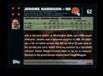 2007 Topps #62  Jerome Harrison  Back Thumbnail