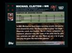2007 Topps #187  Michael Clayton  Back Thumbnail