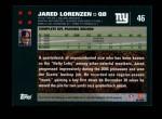 2007 Topps #46  Jared Lorenzen  Back Thumbnail