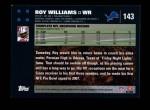 2007 Topps #143  Roy Williams  Back Thumbnail