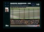 2007 Topps #149  Marvin Harrison  Back Thumbnail