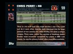 2007 Topps #59  Chris Perry  Back Thumbnail