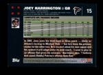 2007 Topps #15  Joey Harrington  Back Thumbnail