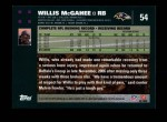 2007 Topps #54  Willis McGahee  Back Thumbnail