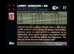 2007 Topps #77  Larry Johnson  Back Thumbnail
