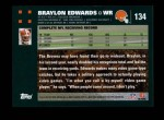 2007 Topps #134  Braylon Edwards  Back Thumbnail