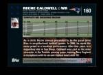 2007 Topps #160  Reche Caldwell  Back Thumbnail