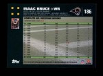 2007 Topps #186  Isaac Bruce  Back Thumbnail