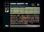 2007 Topps #57  Cedric Benson  Back Thumbnail