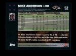 2007 Topps #52  Mike Anderson  Back Thumbnail