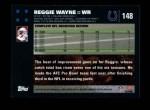 2007 Topps #148  Reggie Wayne  Back Thumbnail
