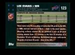 2007 Topps #123  Lee Evans  Back Thumbnail