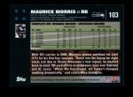 2007 Topps #103  Maurice Morris  Back Thumbnail