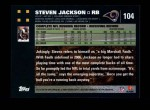 2007 Topps #104  Steven Jackson  Back Thumbnail