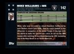2007 Topps #142  Mike Williams  Back Thumbnail