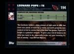 2007 Topps #194  Leonard Pope  Back Thumbnail