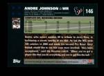 2007 Topps #146  Andre Johnson  Back Thumbnail