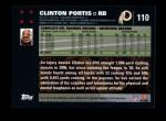 2007 Topps #110  Clinton Portis  Back Thumbnail