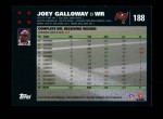 2007 Topps #188  Joey Galloway  Back Thumbnail