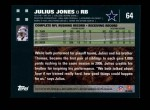 2007 Topps #64  Julius Jones  Back Thumbnail