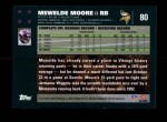 2007 Topps #80  Mewelde Moore  Back Thumbnail
