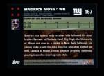 2007 Topps #167  Sinorice Moss  Back Thumbnail