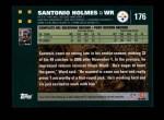 2007 Topps #176  Santonio Holmes  Back Thumbnail