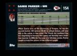 2007 Topps #154  Samie Parker  Back Thumbnail