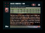 2007 Topps #38  Alex Smith  Back Thumbnail
