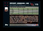 2007 Topps #115  Bryant Johnson  Back Thumbnail
