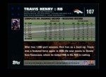 2007 Topps #107  Travis Henry  Back Thumbnail
