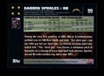 2007 Topps #99  Darren Sproles  Back Thumbnail
