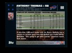2007 Topps #88  Anthony Thomas  Back Thumbnail
