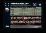 2007 Topps #93  Justin Fargas  Back Thumbnail