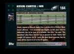 2007 Topps #184  Kevin Curtis  Back Thumbnail