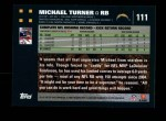 2007 Topps #111  Michael Turner  Back Thumbnail