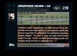 2007 Topps #278  Jonathan Vilma  Back Thumbnail