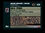 2007 Topps #420   -  Devin Hester Pro Bowl Back Thumbnail