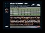 2007 Topps #240  Lito Sheppard  Back Thumbnail