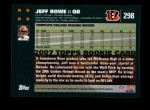 2007 Topps #298  Jeff Rowe  Back Thumbnail