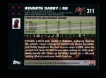 2007 Topps #311  Kenneth Darby  Back Thumbnail