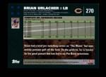 2007 Topps #270  Brian Urlacher  Back Thumbnail