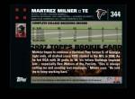 2007 Topps #344  Martrez Milner  Back Thumbnail