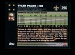 2007 Topps #296  Tyler Palko  Back Thumbnail