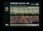2007 Topps #332  Courtney Taylor  Back Thumbnail