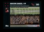 2007 Topps #365  Buster Davis  Back Thumbnail
