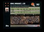 2007 Topps #382  Eric Wright  Back Thumbnail