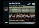 2007 Topps #210  L.J. Smith  Back Thumbnail