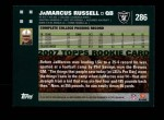 2007 Topps #286  JaMarcus Russell  Back Thumbnail